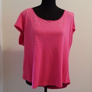 Rafaella Woman Pink Jeweled Top